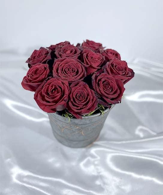 سبد فلزی گل رز