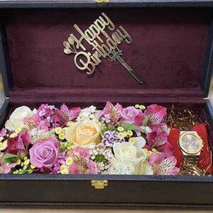 باکس چوبی گل رز بهاری2
