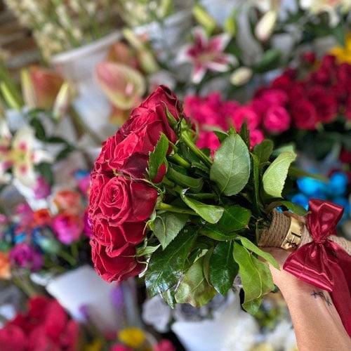 دسته گل رز -02