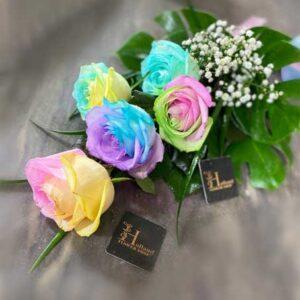 دسته گل رز پاستیلی
