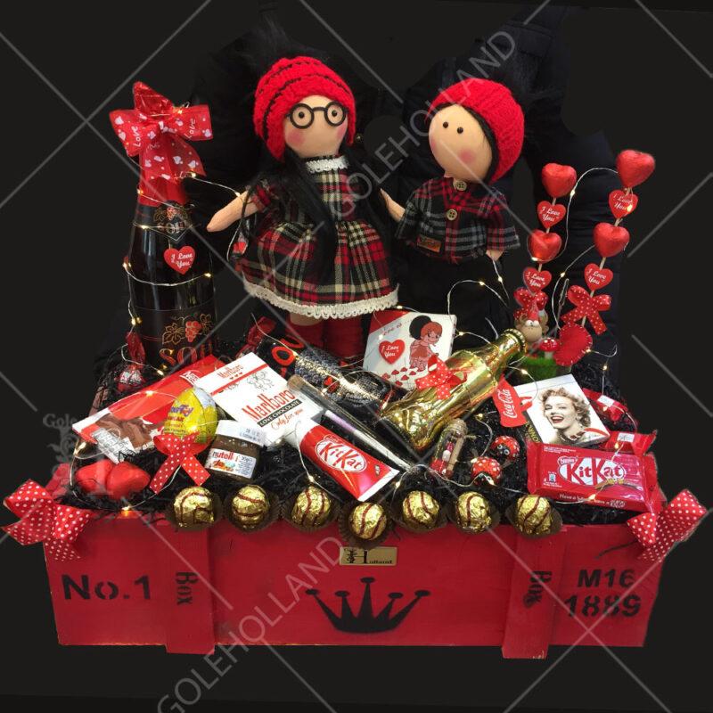 باکس-دو-عروسک-ولنتاین-با-شکلات