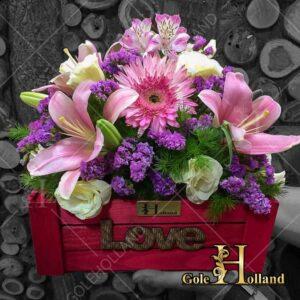 باکس-گل-چوبی-LOVE
